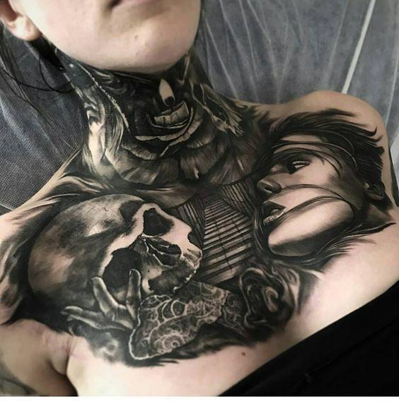 Tatouage Gothiques Femme (8)