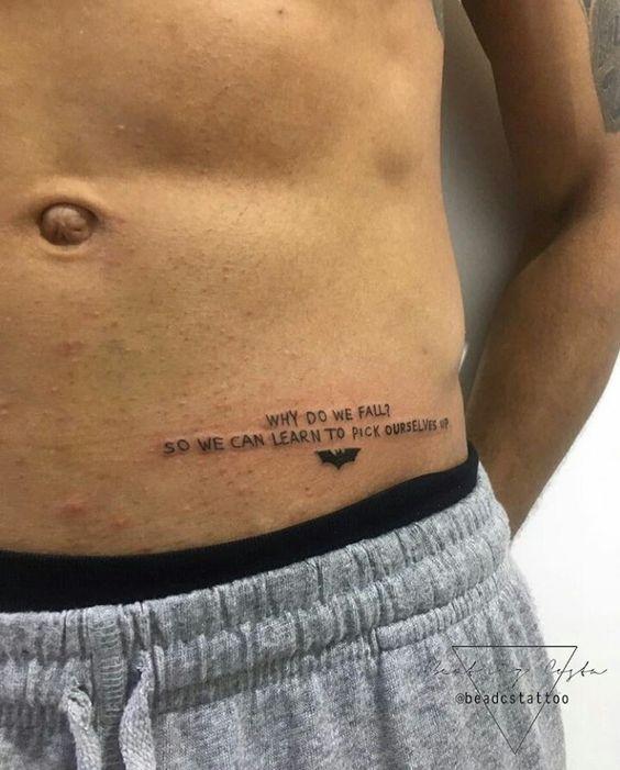 Tatouage Hanche Phrase (10)