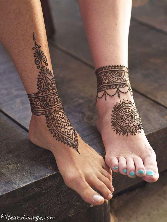 Tatouage Henne Pied (2)