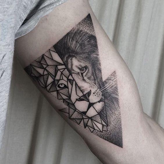 Tatouage Lion Bras (1)