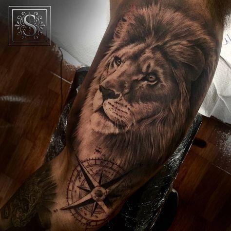 Tatouage Lion Bras (10)