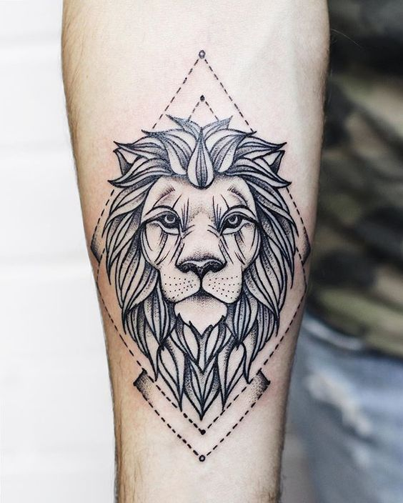 Tatouage Lion Bras (11)
