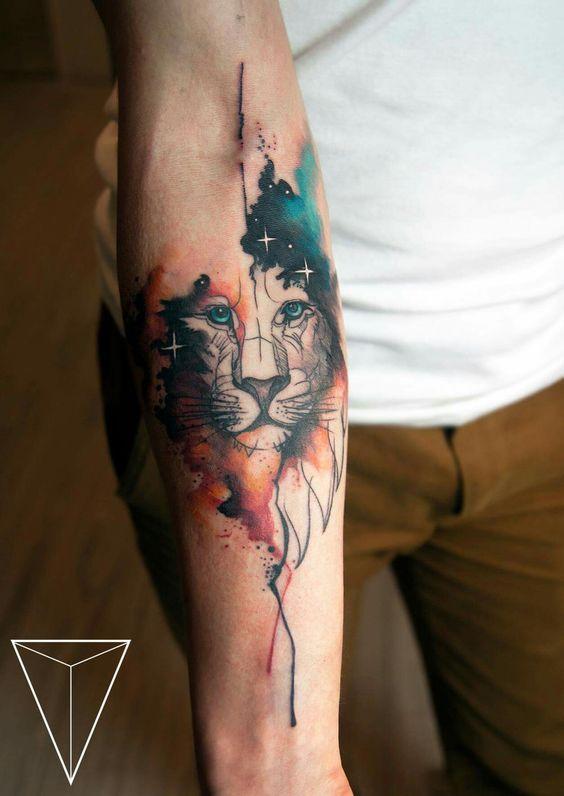 Tatouage Lion Bras (2)