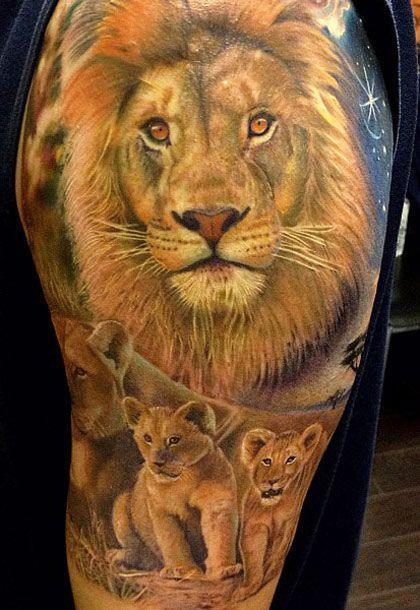 Tatouage Lion Couleurs (11)