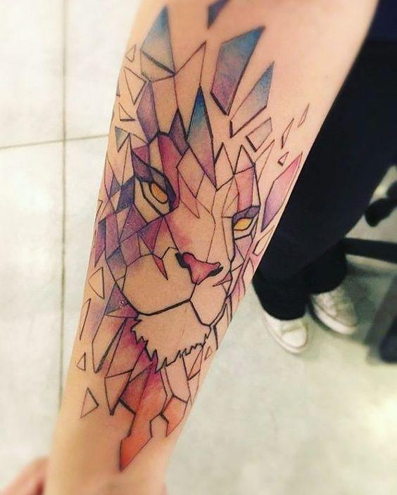 Tatouage Lion Couleurs (4)