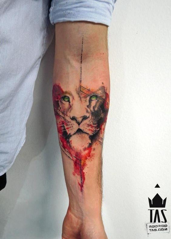 Tatouage Lion Couleurs (5)