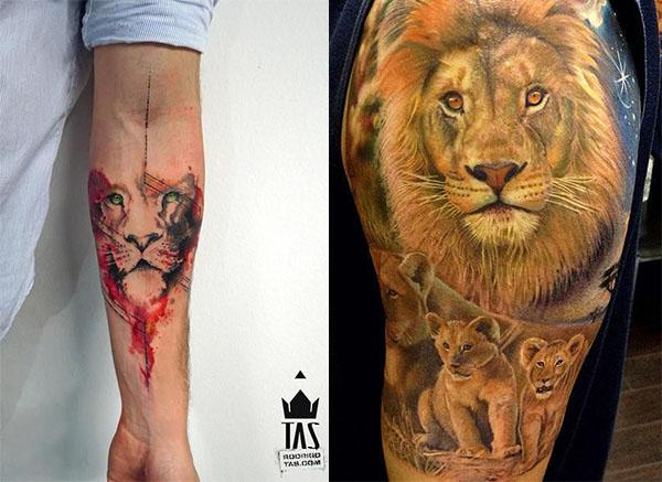 Tatouage Lion Couleurs (6)