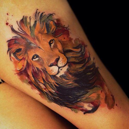Tatouage Lion Couleurs (8)