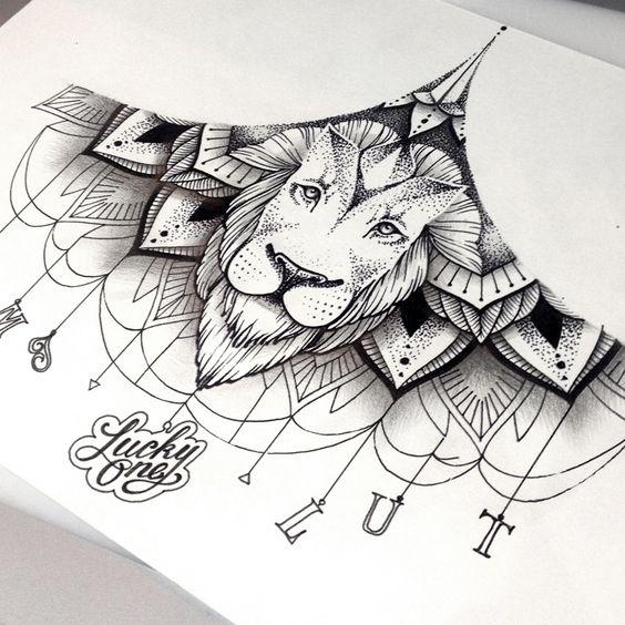 Tatouage Lion Design (1)