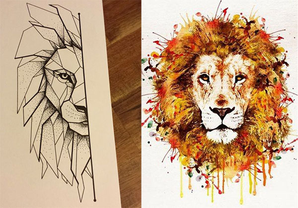 Tatouage Lion Design (7)