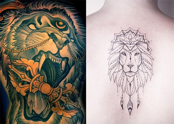 Tatouage Lion Dos (3)