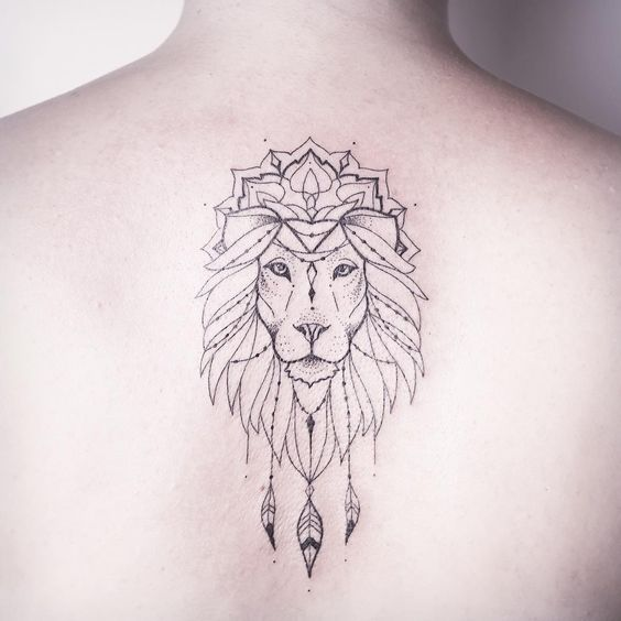 Tatouage Lion Dos (7)