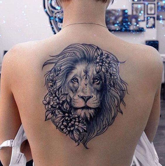 Tatouage Lion Femme (13)