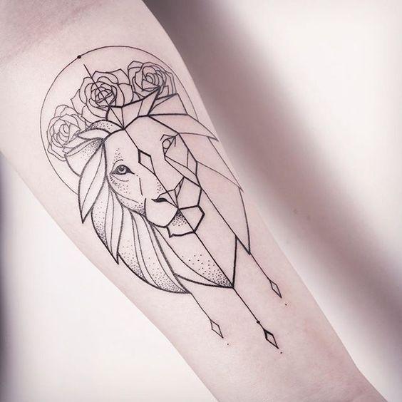 Tatouage Lion Femme (14)