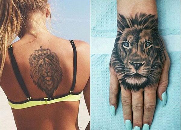 Tatouage Lion Femme (5)