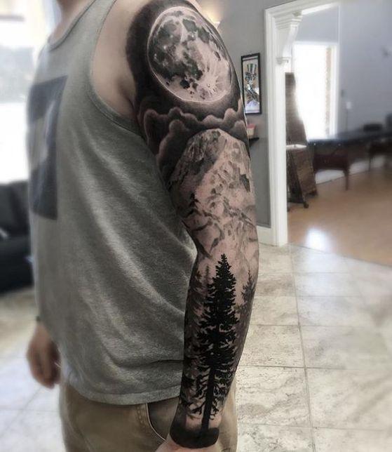Tatouage Lune Homme (6)