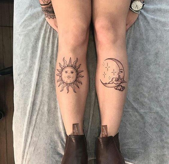 Tatouage Lune Soleil (1)
