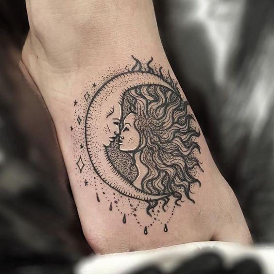 Tatouage Lune Soleil (5)