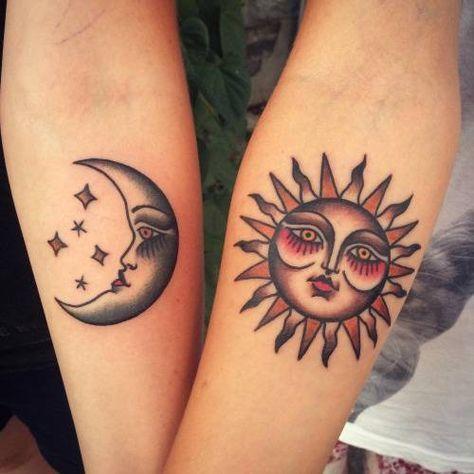 Tatouage Lune Soleil Couple (11)