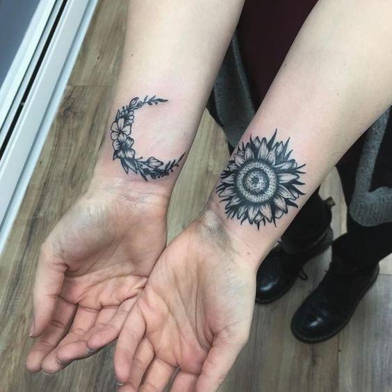 Tatouage Lune Soleil Couple (4)