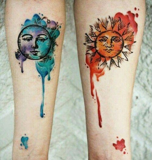 Tatouage Lune Soleil Couple (5)