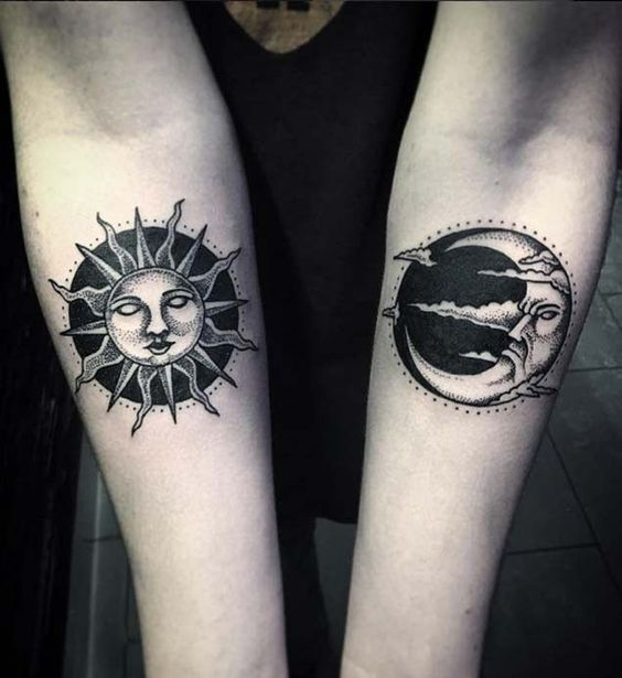 Tatouage Lune Soleil Couple (7)