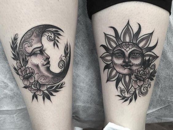 Tatouage Lune Soleil Couple (9)