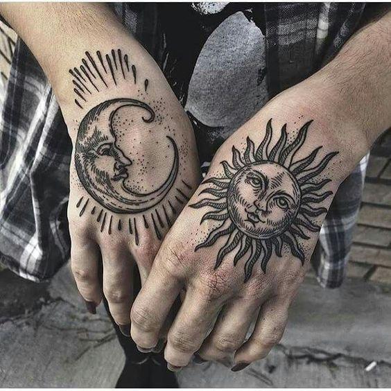 Tatouage Lune Soleil Femme (3)