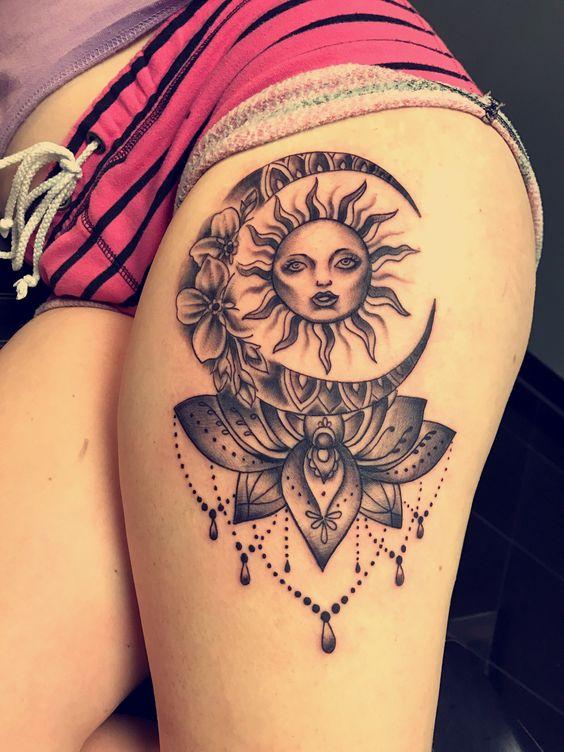 Tatouage Lune Soleil Femme (4)