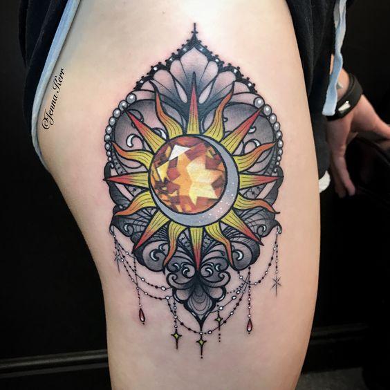 Tatouage Lune Soleil Femme (5)