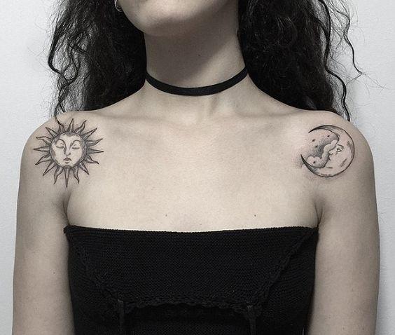 Tatouage Lune Soleil Femme (7)