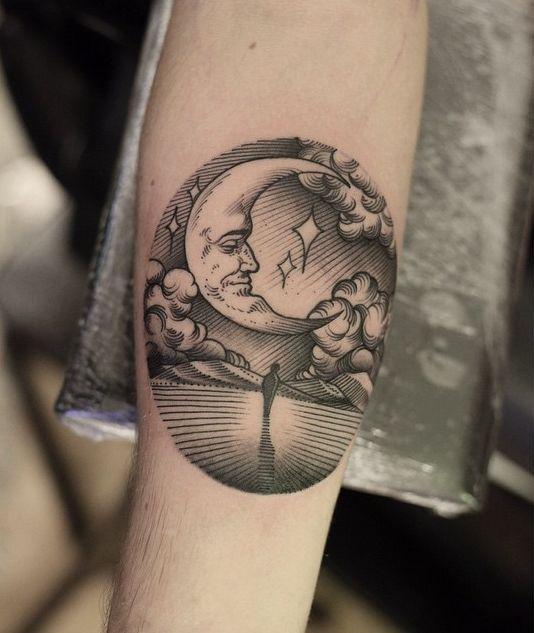 Tatouage Lune Soleil Femme (9)