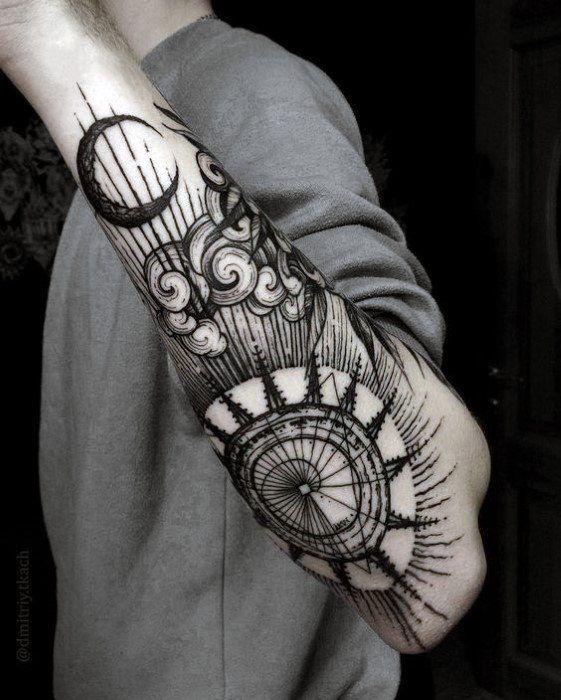 Tatouage Lune Soleil Homme (1)