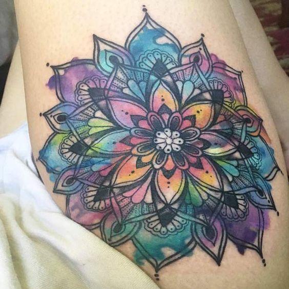 Tatouage Mandala Couleurs (4)
