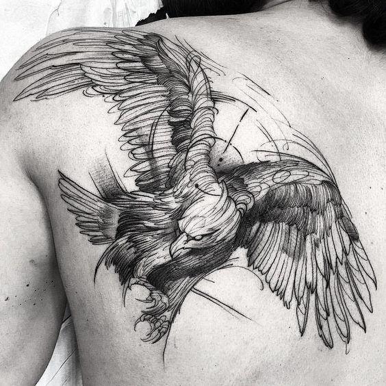 Tatouage Oiseaux Dos (5)