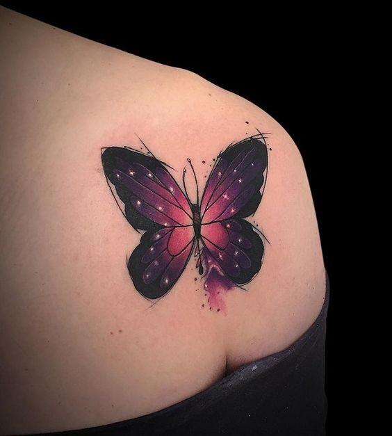 Tatouage Papillon Epaule (1)
