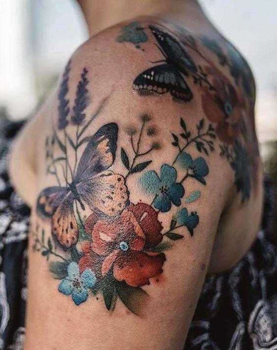 Tatouage Papillon Epaule (3)