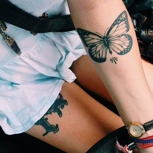 Tatouage Papillon Noir (1)