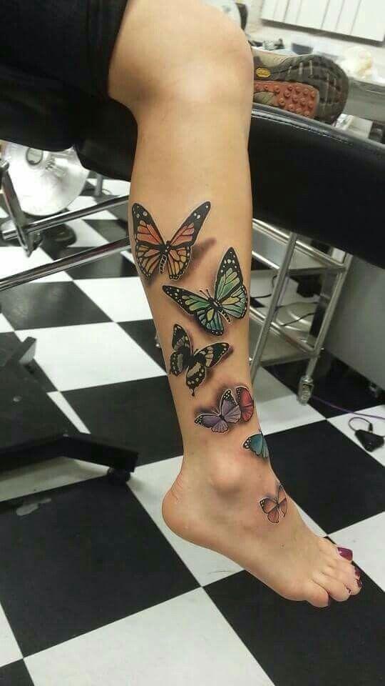 Tatouage Papillon Pied (1)