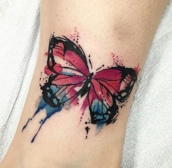 Tatouage Papillon Pied (4)