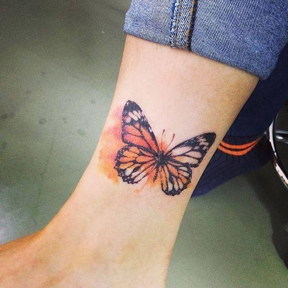 Tatouage Papillon Pied (5)