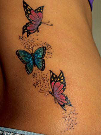 Tatouage Papillon Stars (1)