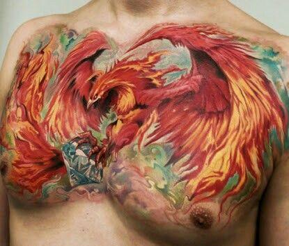 Tatouage Phoenix Couleur (3)