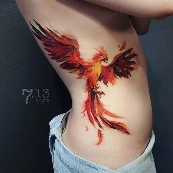 Tatouage Phoenix Femme (3)