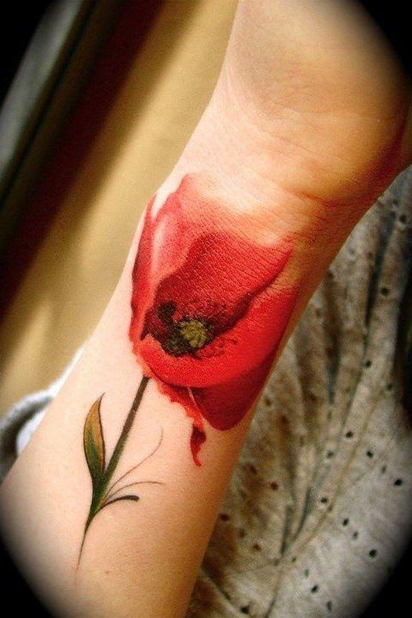 Tatouage Poignet Rose (1)