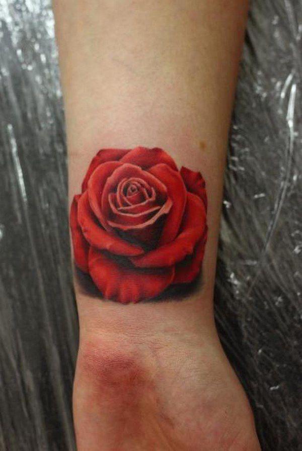 Tatouage Poignet Rose (2)