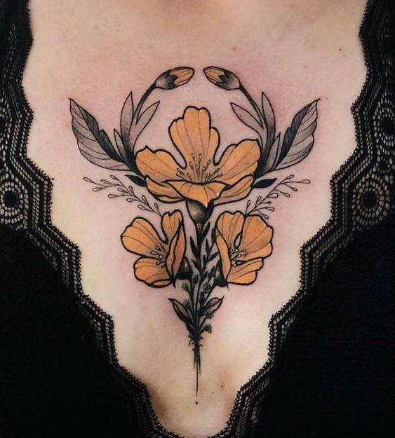 Tatouage Poitrine Femme (6)