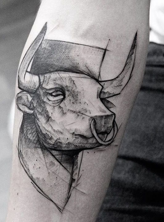 Tatouage Taureau Homme (3)