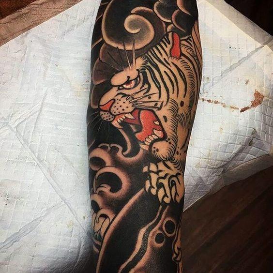 Tatouage Tigre Bras (1)