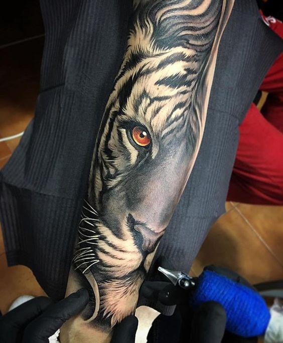 Tatouage Tigre Bras (7)